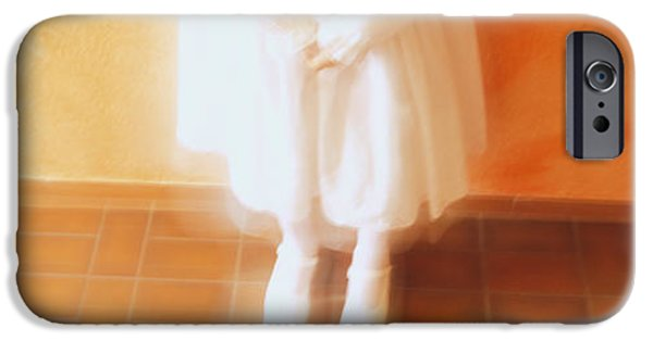 Innocence iPhone Cases - High Angle View Of A Girl Standing In iPhone Case by Panoramic Images