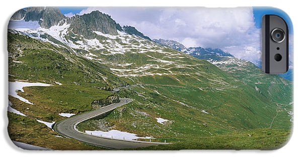 Generic iPhone Cases - High Angle View Of A Road Passing iPhone Case by Panoramic Images