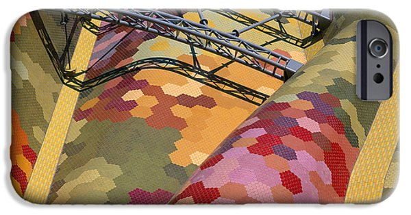 Built Structure iPhone Cases - High Angle View Of A Roof Of Santa iPhone Case by Panoramic Images