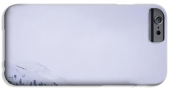 Weekend Activities iPhone Cases - High Angle View Of A Ski Resort iPhone Case by Panoramic Images