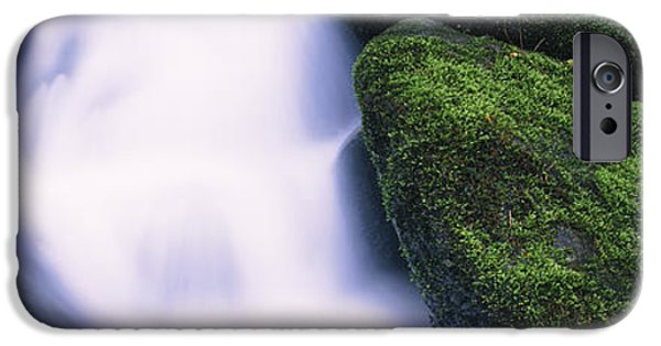 Gatlinburg iPhone Cases - High Angle View Of A Waterfall, Roaring iPhone Case by Panoramic Images