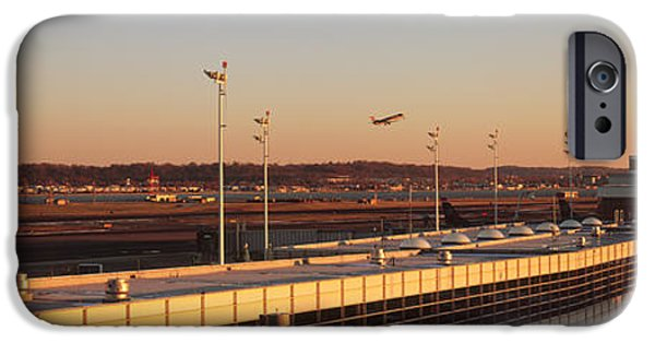 Reagan iPhone Cases - High Angle View Of An Airport, Ronald iPhone Case by Panoramic Images