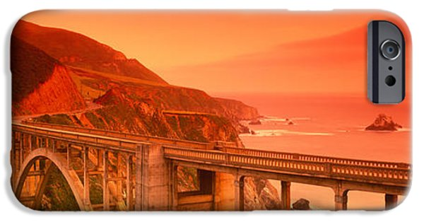 Mode Of Transport iPhone Cases - High Angle View Of An Arch Bridge iPhone Case by Panoramic Images