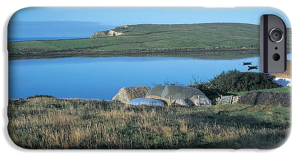 Rural iPhone Cases - High Angle View Of Cottages iPhone Case by Panoramic Images
