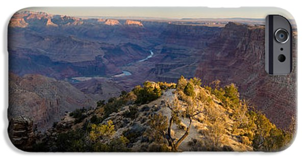 Grand Canyon iPhone Cases - High Angle View Of Desert Point, South iPhone Case by Panoramic Images