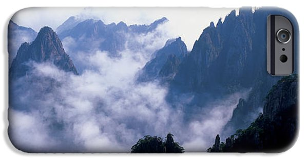 Province iPhone Cases - High Angle View Of Misty Mountains iPhone Case by Panoramic Images