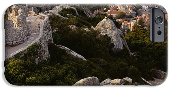Ruin iPhone Cases - High Angle View Of Ruins Of A Castle iPhone Case by Panoramic Images