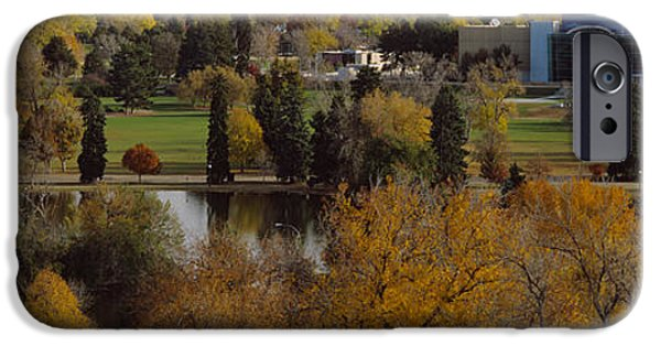 Fall iPhone Cases - High Angle View Of Trees, Denver iPhone Case by Panoramic Images
