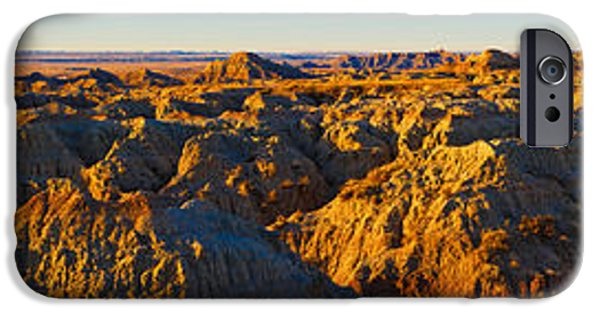 White River Scene Photographs iPhone Cases - High Angle View Of White River Overlook iPhone Case by Panoramic Images