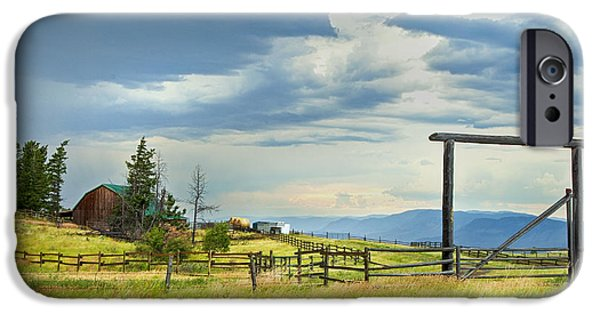 Barn Print Photographs iPhone Cases - High Country Farm iPhone Case by Theresa Tahara