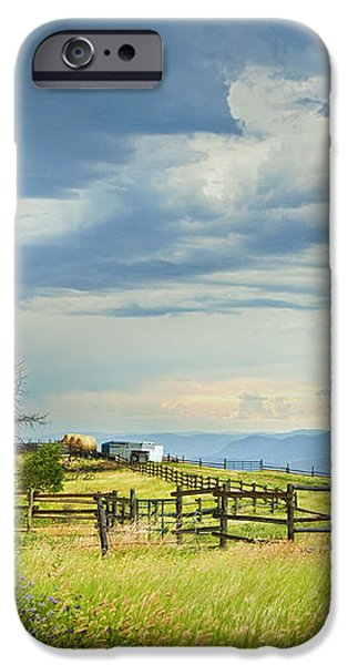 HIGH COUNTRY FARM iPhone Case by Theresa Tahara
