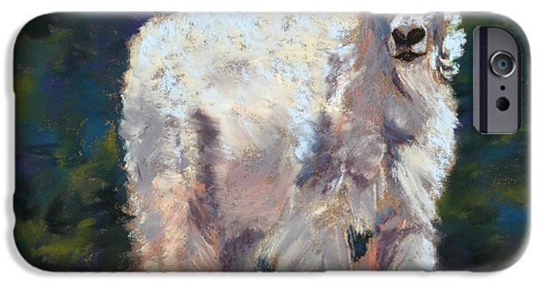 Fauna Pastels iPhone Cases - High Country Friend iPhone Case by Mary Benke