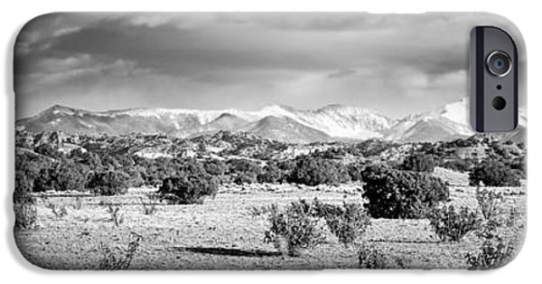 Snow iPhone Cases - High Desert Plains Landscape iPhone Case by Panoramic Images