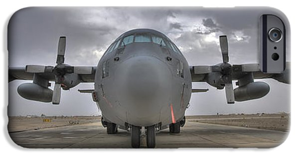 Iraq iPhone Cases - High dynamic range image of a US Air Force C-130 iPhone Case by Terry Moore