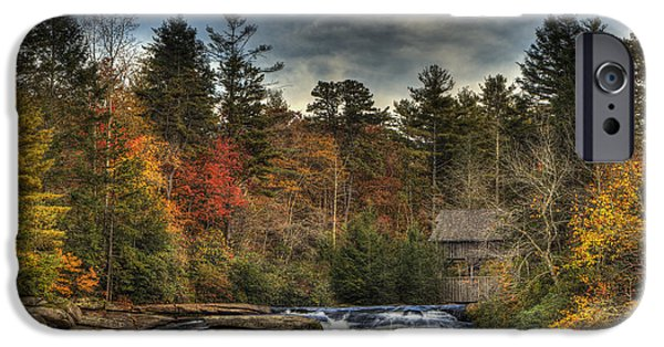Autumn iPhone Cases - High Falls iPhone Case by Jack Milchanowski