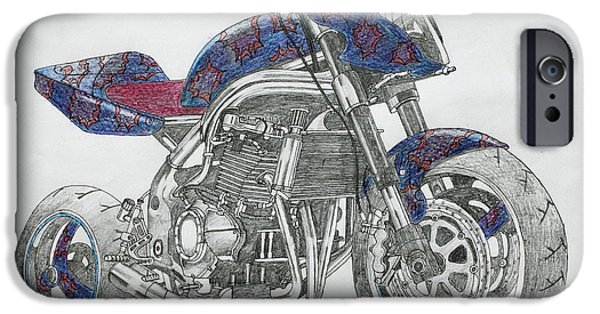 Suspension Drawings iPhone Cases - High Flier iPhone Case by Stephen Brooks