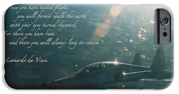 P-51 Mustang iPhone Cases - T-38 Leonardo Da Vinci iPhone Case by Wade Meyers