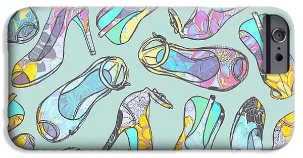 Zany iPhone Cases - High Heels iPhone Case by Laurence Lavallee