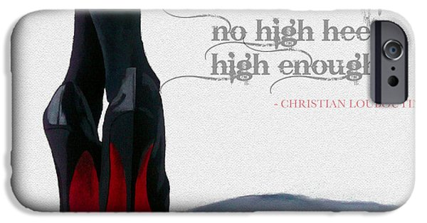 Original Art Mixed Media iPhone Cases - High Heels iPhone Case by Rebecca Jenkins