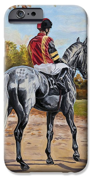 Horse Racing iPhone Cases - High Hopes iPhone Case by Jana Goode