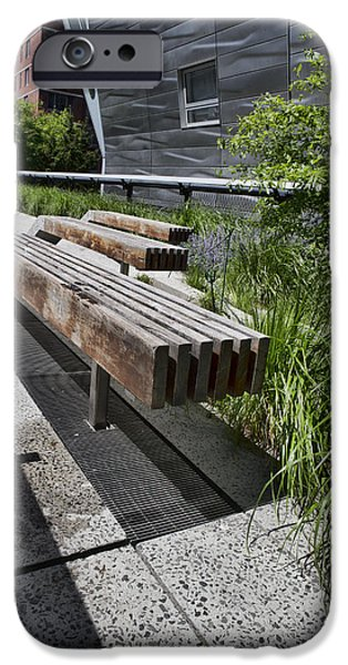 Business Photographs iPhone Cases - High Line Benches iPhone Case by Evie Carrier