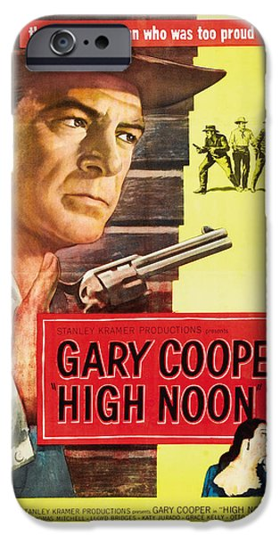 1950s Movies iPhone Cases - High Noon - 1952 iPhone Case by Nomad Art And  Design