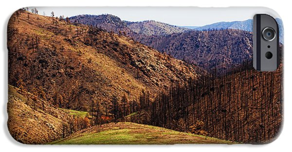 High Park Fire iPhone Cases - High Park Fire burn iPhone Case by Jon Burch Photography