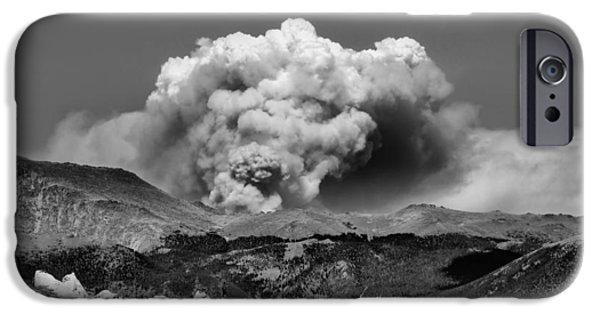 Colorado Fires iPhone Cases - High Park Fire iPhone Case by Ellen Heaverlo