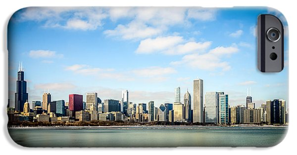 Lakefront iPhone Cases - High Resolution Large Photo of Chicago Skyline iPhone Case by Paul Velgos