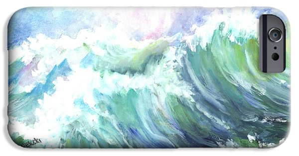 Storm Prints Mixed Media iPhone Cases - High Seas iPhone Case by Carol Wisniewski