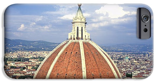 Built Structure iPhone Cases - High Section View Of A Church, Duomo iPhone Case by Panoramic Images