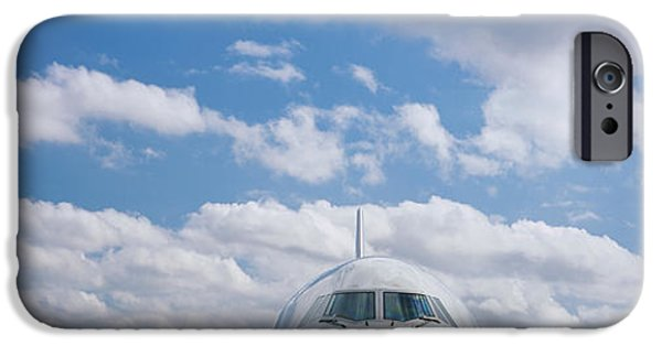 Boeing 747 iPhone Cases - High Section View Of An Airplane iPhone Case by Panoramic Images