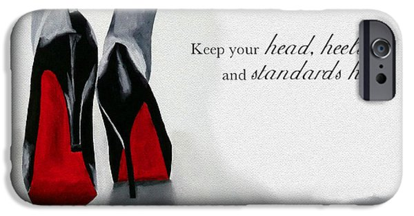 Shoe iPhone Cases - High Standards iPhone Case by Rebecca Jenkins
