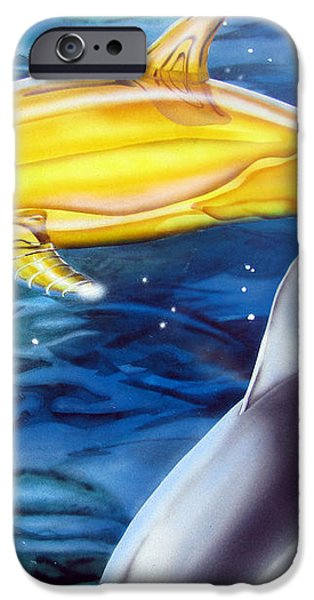 High Tech Dolphins iPhone Case by Thomas J Herring