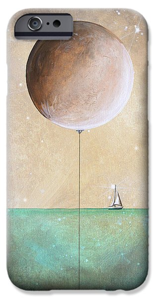 Sailboat Paintings iPhone Cases - High Tide iPhone Case by Cindy Thornton