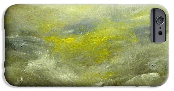 Turbulent Skies Paintings iPhone Cases - High Tide iPhone Case by Joel Zimmerman