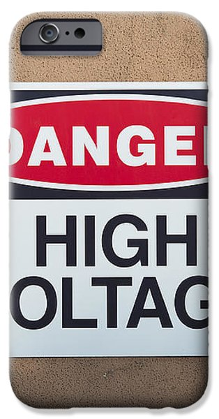 high voltage sign iPhone Case by Hans Engbers