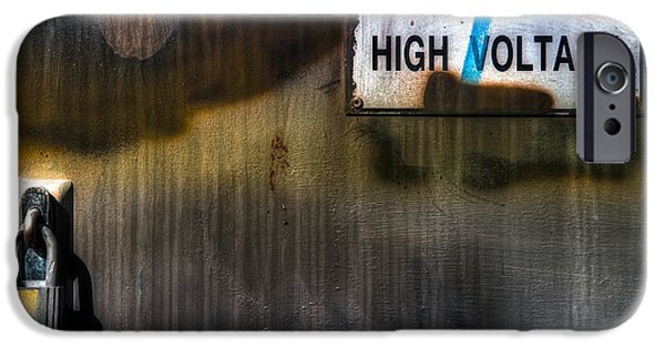 Electrical iPhone Cases - High Voltage Rock N Roll iPhone Case by Wayne Sherriff