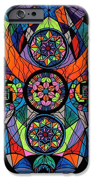 Sacred iPhone Cases - Higher Purpose iPhone Case by Teal Eye  Print Store