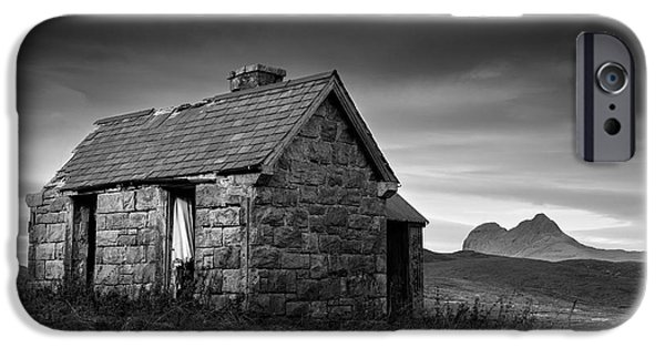 Abandoned House iPhone Cases - Highland Cottage 1 iPhone Case by Dave Bowman