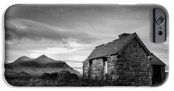 Abandoned House iPhone Cases - Highland Cottage 2 iPhone Case by Dave Bowman