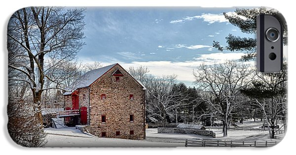 Highlands Digital iPhone Cases - Highland Farms in the Snow iPhone Case by Bill Cannon