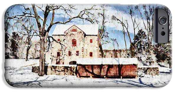 Highlands Digital iPhone Cases - Highland Farms in the Winter iPhone Case by Bill Cannon