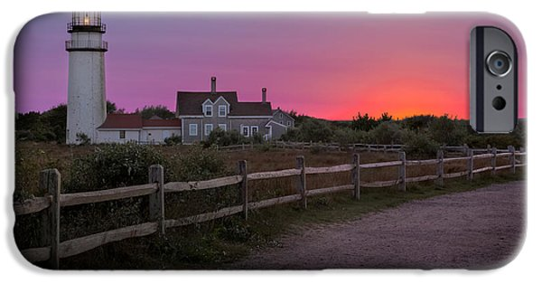 Cape Cod National Seashore iPhone Cases - Highland Light iPhone Case by Bill  Wakeley