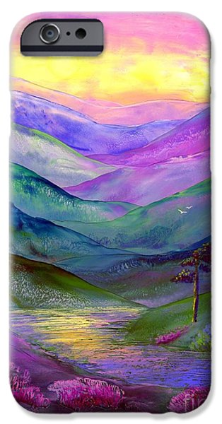 Sunset Paintings iPhone Cases - Highland Light iPhone Case by Jane Small