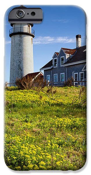 New England Lighthouse iPhone Cases - Highland Light Spring iPhone Case by Bill  Wakeley