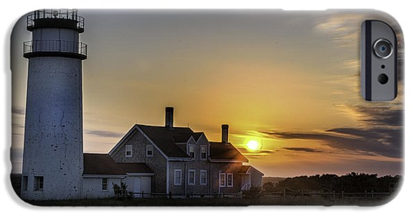 Cape Cod iPhone Cases - Highland Lighthouse at Sunset - Cape Cod iPhone Case by Thomas Schoeller
