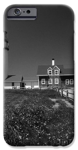 Cape Cod Lighthouses iPhone Cases - Highland Lighthouse iPhone Case by Skip Willits