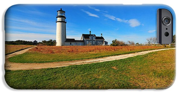 New England Lighthouse iPhone Cases - Highland Point Light iPhone Case by Catherine Reusch  Daley