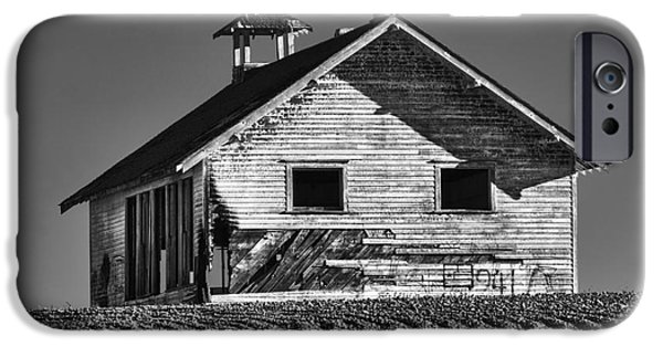 School Houses iPhone Cases - Highland School House iPhone Case by Mark Kiver